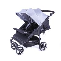 Poussette easy twin 3s châssis black heather grey