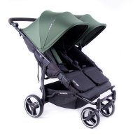Poussette easy twin 3s reversible châssis black forest