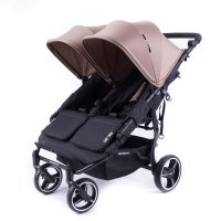 Poussette easy twin 3s reversible châssis black taupe