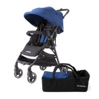 Pack poussette duo kuki avec nacelle souple midnight blue