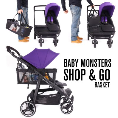 Panier shop and go pour poussette easy twin Baby monsters