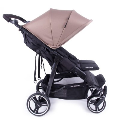 Poussette easy twin 3s reversible châssis black taupe Baby monsters