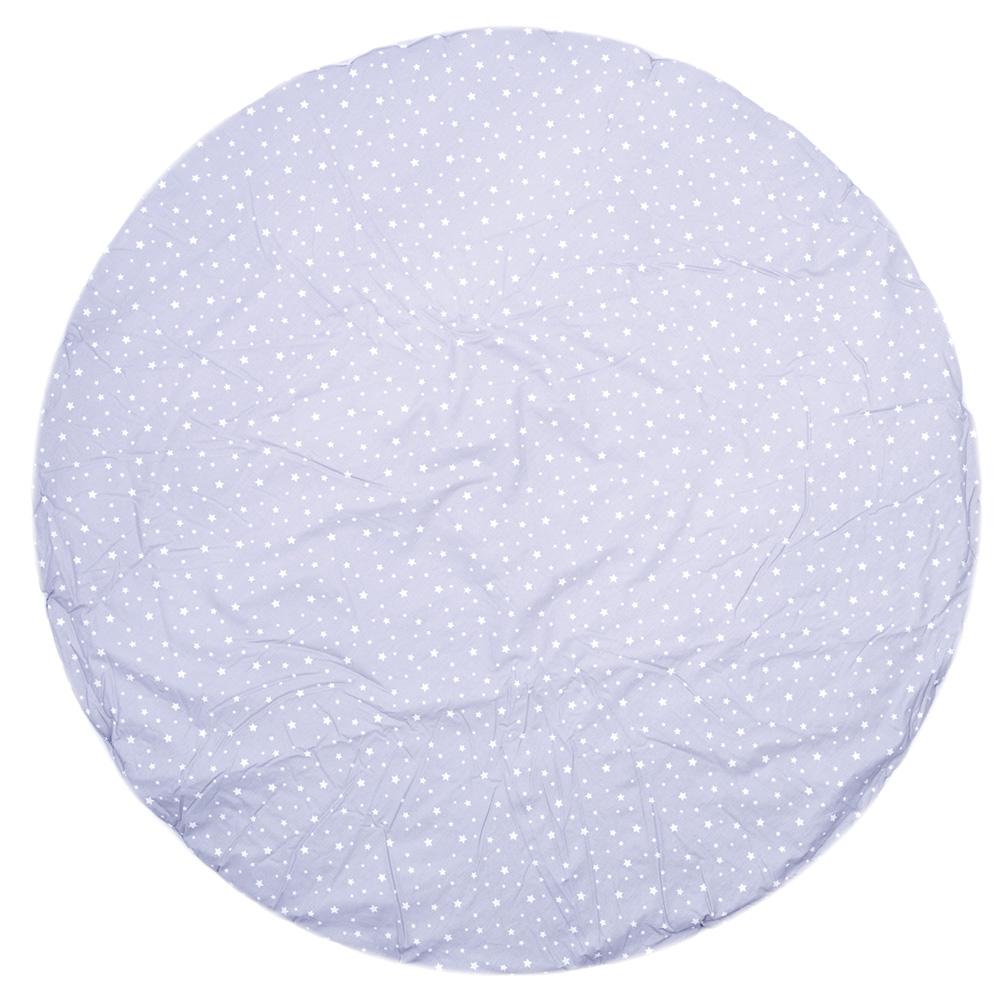 tapis de chambre b b r versible coton toiles gris et. Black Bedroom Furniture Sets. Home Design Ideas