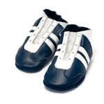 Chaussons bébé tennis blanc et bleu 6-12 mois pas cher