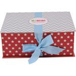 Boîte cadeau luxe mixte (body+bonnet+pantalon+couverture+grigri) pas cher