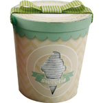 Pot de glace mixte (dors bien + bonnet + bandana) gris pas cher