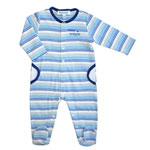 Pyjama bébé petit trésor rayé bleu