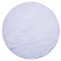Tapis de chambre bébé réversible coton étoiles gris et gris clair