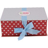 Boîte cadeau luxe mixte (body+bonnet+pantalon+couverture+grigri)