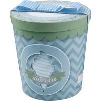 Coffret naissance pot de glace garçon (dors bien + bonnet + bandana) bleu