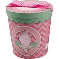 Coffret naissance pot de glace fille (dors bien + bonnet + bandana) rose