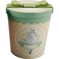 Coffret naissance pot de glace mixte (dors bien + bonnet + bandana) gris