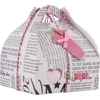 Boîte cadeau (body + pantalon + chaussettes + grigri coeur) rose