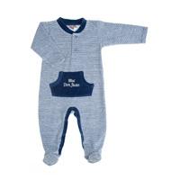 Pyjama hiver garçon mini don juan rayé marine