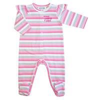 Pyjama petite chérie à papa rayé rose