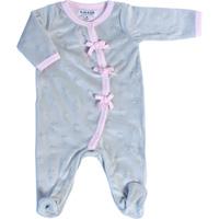 Pyjama bébé d'amour gris rose