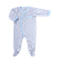 Pyjama hiver bébé d'amour gris bleu