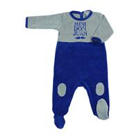 Pyjama hiver mini don juan bleu roi gris