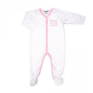 Pyjama été fabriquée avec amour étoile rose