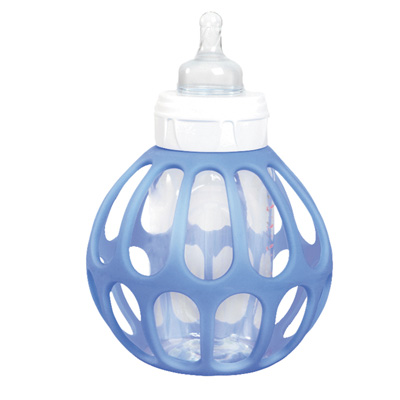 Porte biberon bottle ball bleu Bulle de bb