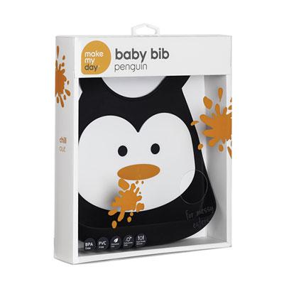 Bulle de bb Bavoir en silicone souple pingouin 1