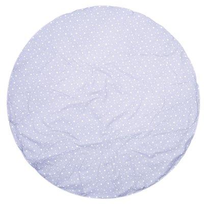 Tapis de chambre bébé réversible coton étoiles gris et gris clair Bulle de bb
