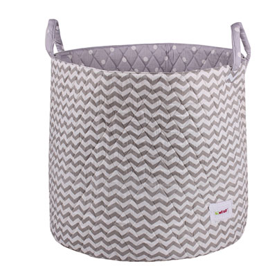 grand panier de rangement gris vagues de bulle de bb sur allob b. Black Bedroom Furniture Sets. Home Design Ideas