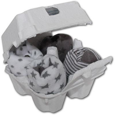 Lot de 4 paires de chaussettes bébé gris et blanc Bulle de bb