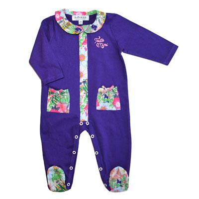 Pyjama été toute mimi violet et exotic Bulle de bb