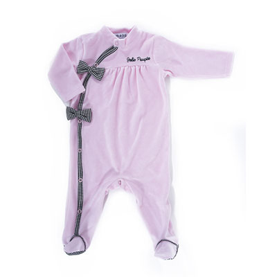 Pyjama hiver jolie poupée rose Bulle de bb