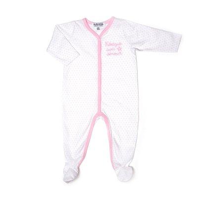 Pyjama été fabriquée avec amour étoile rose Bulle de bb