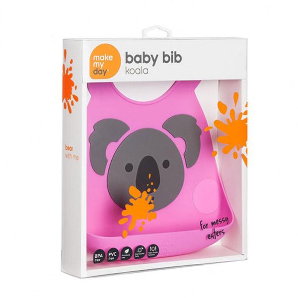 Bavoir en silicone souple koala Bulle de bb