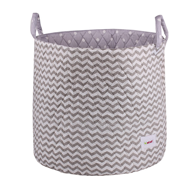 grand panier de rangement gris vagues de bulle de bb chez naturab b. Black Bedroom Furniture Sets. Home Design Ideas