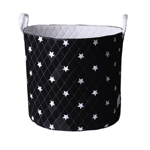Grand panier de rangement noir étoiles Bulle de bb