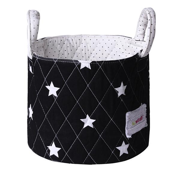 Petit panier noir étoiles Bulle de bb