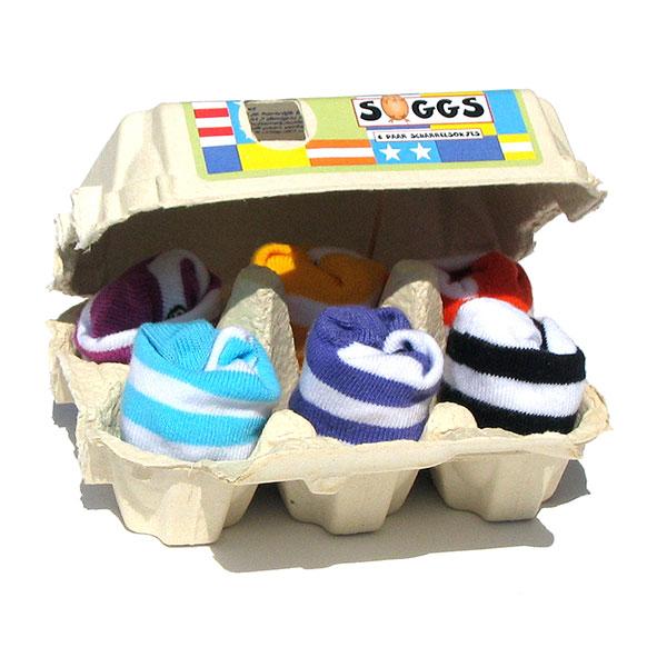 Lot 6 paires de chaussettes bébé à rayures 0-12 mois Bulle de bb