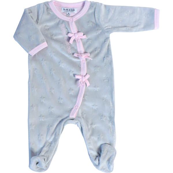 Pyjama bébé d'amour gris rose Bulle de bb