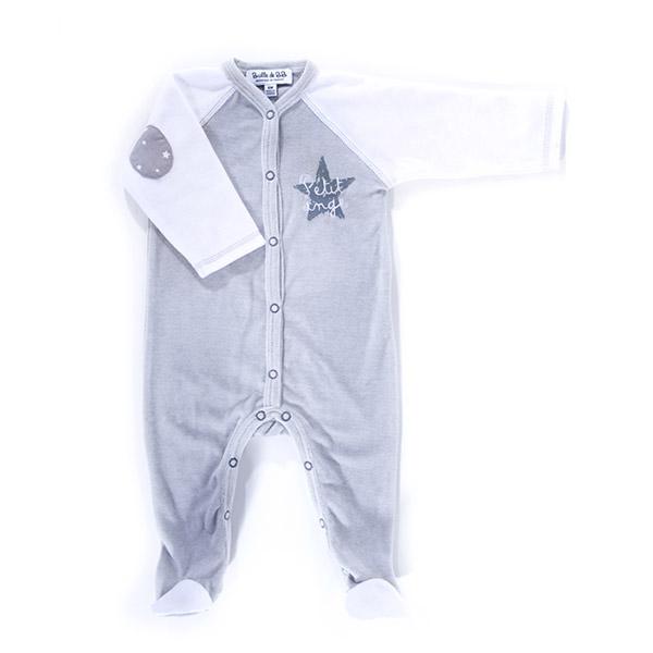 Pyjama bébé hiver petit ange gris blanc Bulle de bb