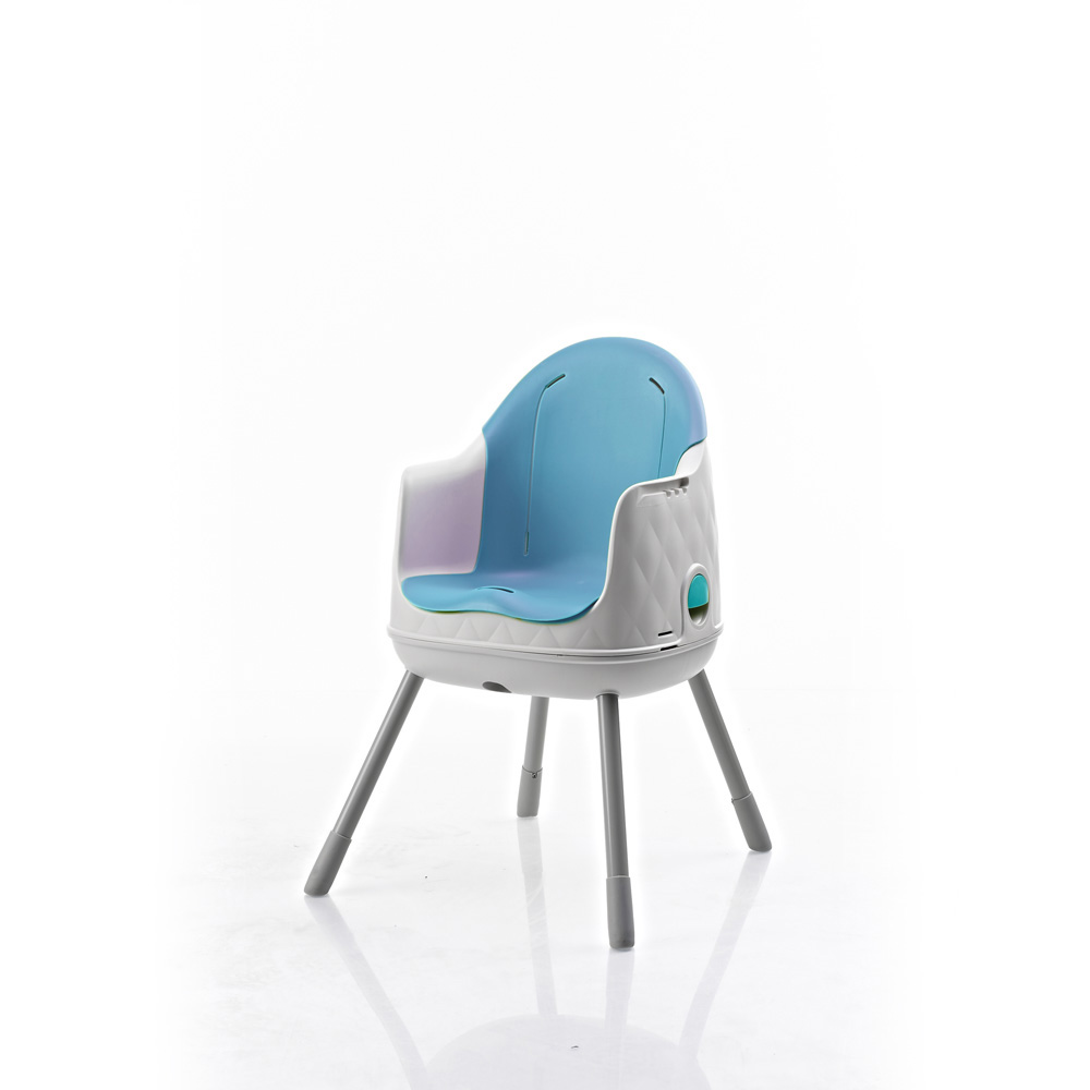 Chaise haute b b multi dine 3 en 1 bleu 10 sur allob b for Chaise haute 3 en 1