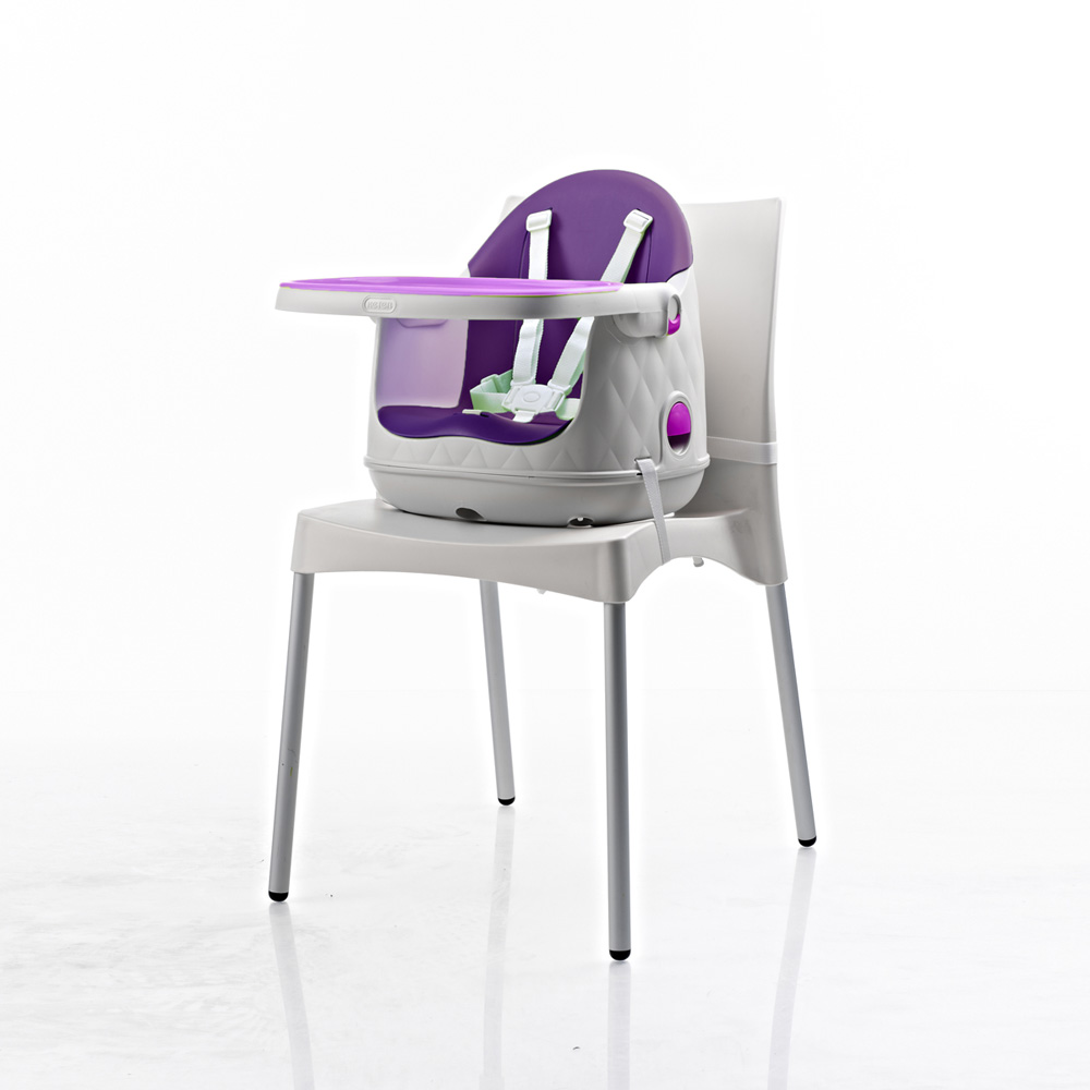chaise haute b b multi dine 3 en 1 violet de babytolove. Black Bedroom Furniture Sets. Home Design Ideas