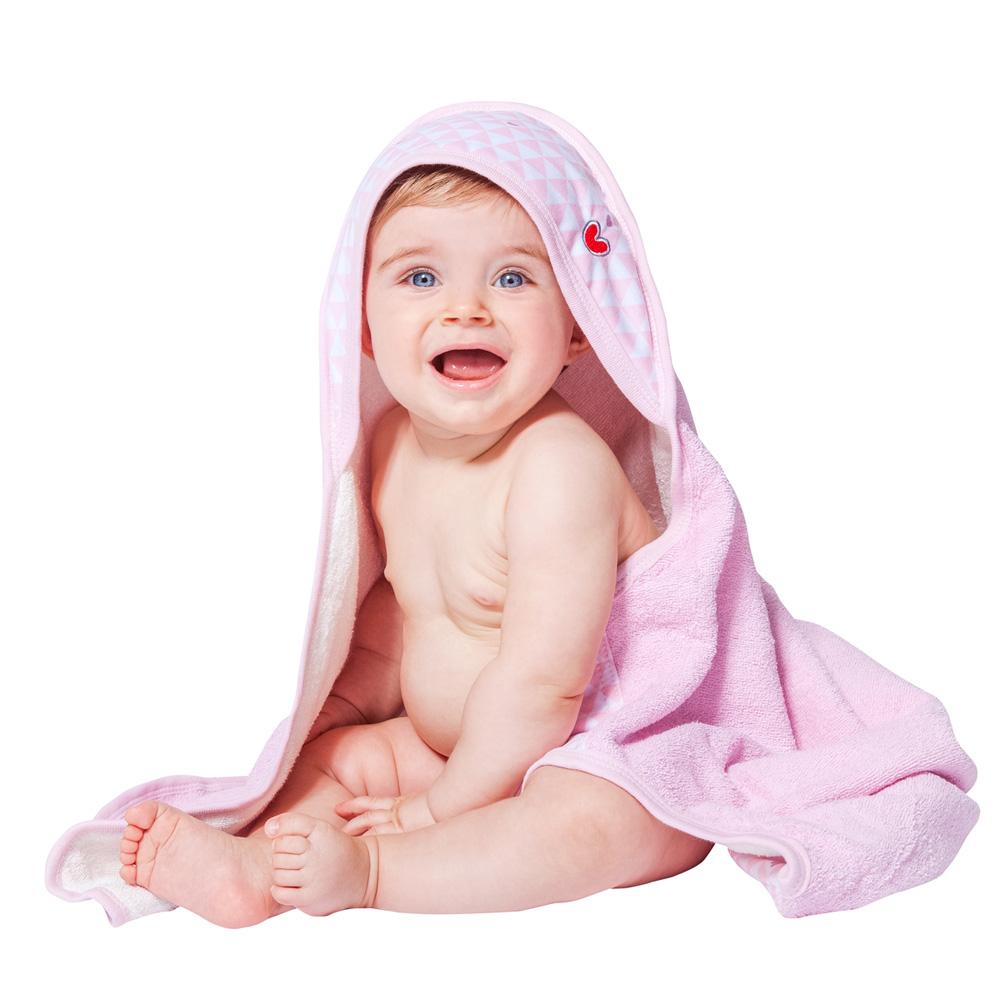 sortie de bain b b serviette papillon pink heart de babytolove sur allob b. Black Bedroom Furniture Sets. Home Design Ideas