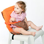 Chaise nomade réversible chocolat / orange pas cher