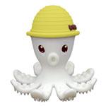 Jouet de dentition pieuvre 3d jaune mombella de Babytolove