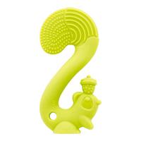 Anneau jouet de dentition ecureuil vert