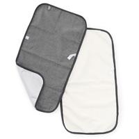 Lot de 2 serviettes à langer blanc / taupe