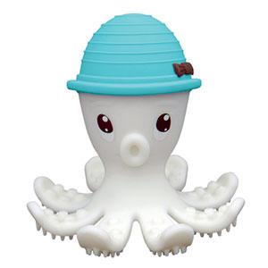 Jouet de dentition pieuvre 3d bleu mombella