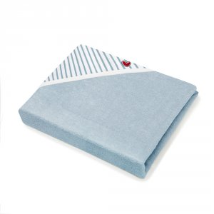 Sortie de bain bébé serviette papillon blue stripes