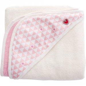 Sortie de bain bébé serviette papillon pink heart