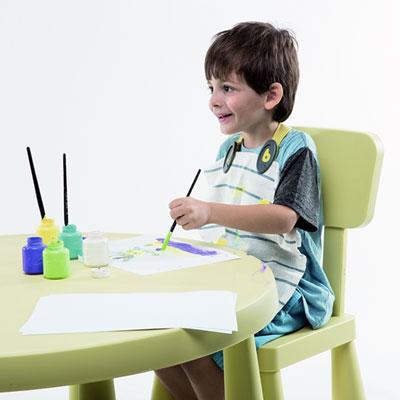 Attache bavoir bclip lime pencil Babytolove