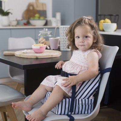 Rehausseur de chaise easy up blue stripes Babytolove